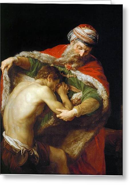 The Return Of The Prodigal Son Greeting Card by Pompeo Batoni