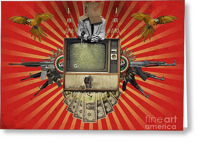 Politics Digital Art Greeting Cards - The Revolution Will Not Be Televised Greeting Card by Rob Snow