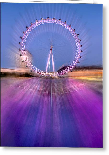 Silver Eye Shadow Greeting Cards - The Revolving Eye Greeting Card by Adrian Campfield