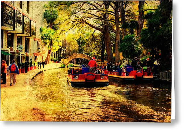 Riverwalk Greeting Cards - The Ride Greeting Card by Iris Greenwell
