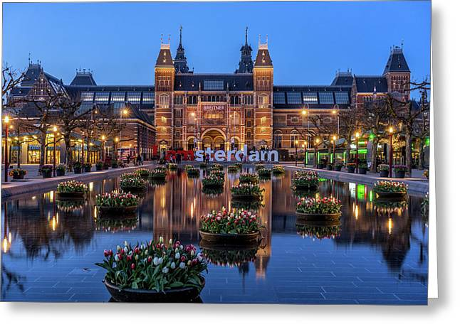 The Rijksmuseum, Amsterdam Greeting Card by Reinier Snijders