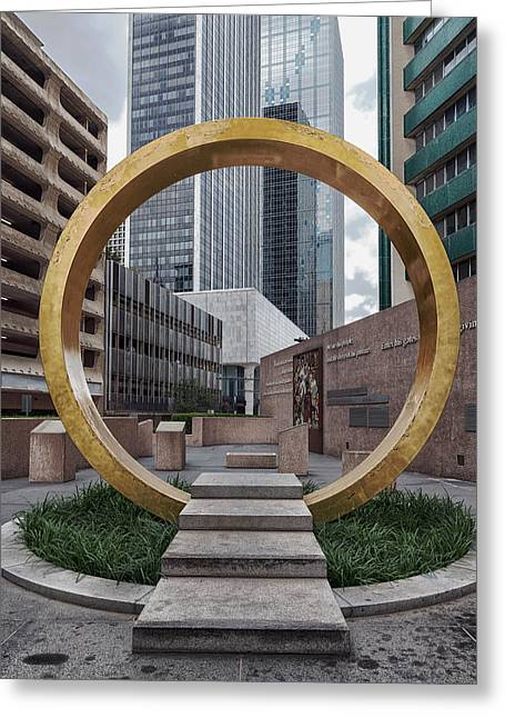 Historic Architecture Greeting Cards - The Ring Of Thanks - Dallas Greeting Card by Mountain Dreams