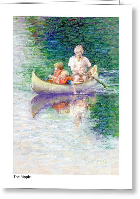 Canoe Pastels Greeting Cards - The Ripple Greeting Card by Betsy Derrick