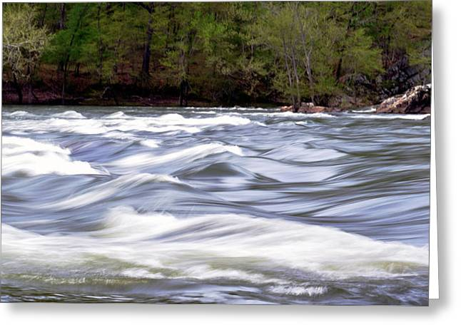 Arkansas Greeting Cards - The River Greeting Card by Amburr Drury