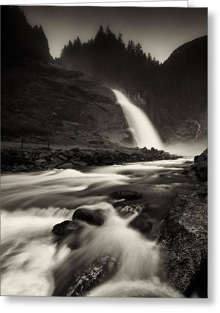 Water Flowing Greeting Cards - The River Greeting Card by Gerd Doerfler
