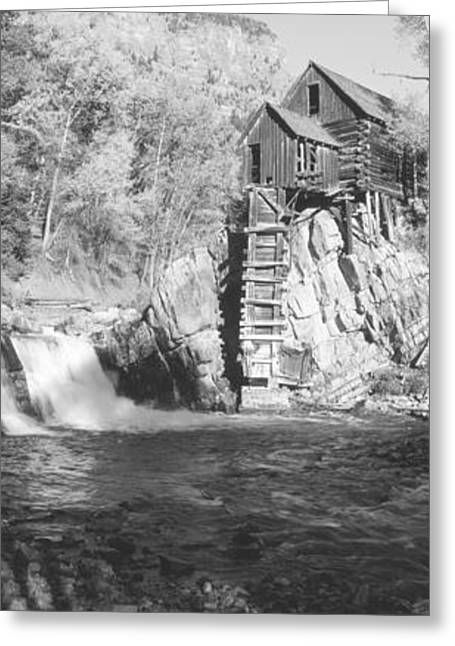The River Mill At Crystal River Valley Greeting Card by Panoramic Images
