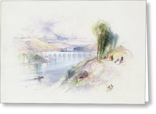 The River Schuykill Greeting Card by Thomas Moran