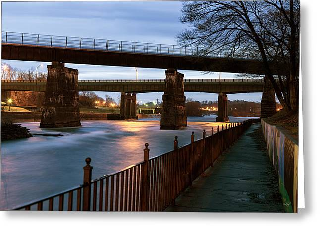 The River Walk Greeting Card by Everet Regal