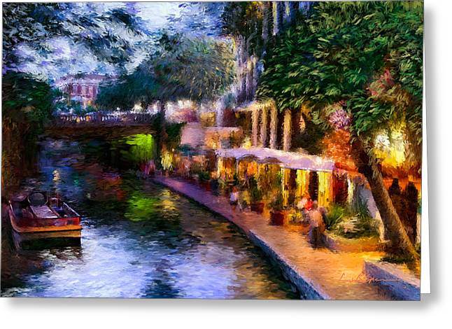 The River Walk Greeting Card by Lisa  Spencer