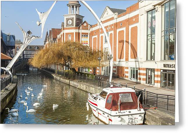 Empowerment Greeting Cards - The River Witham In Lincoln UK Greeting Card by Martyn Williams