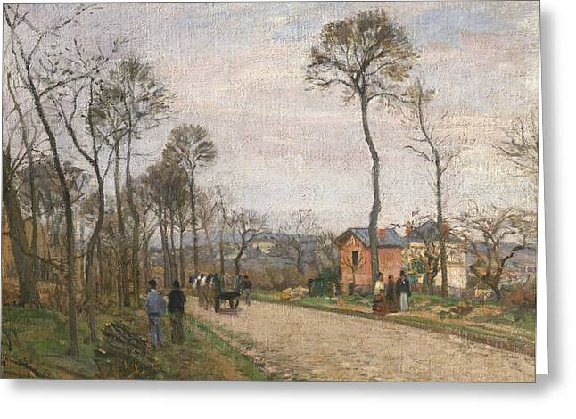 The Road From Louveciennes Greeting Card by Camille Pissarro
