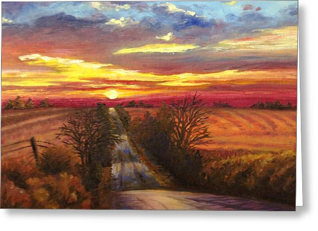 Best Seller Greeting Cards - The Road Home Greeting Card by Rod Seel
