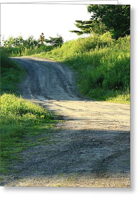 Rural Maine Roads Photographs Greeting Cards - The Road Less Taken Greeting Card by Laurie Breton
