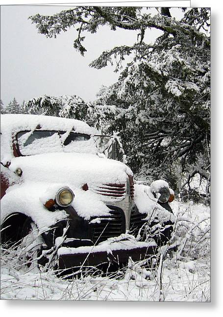 Old Trucks Greeting Cards - The Road Less Traveled Greeting Card by JoAnn SkyWatcher