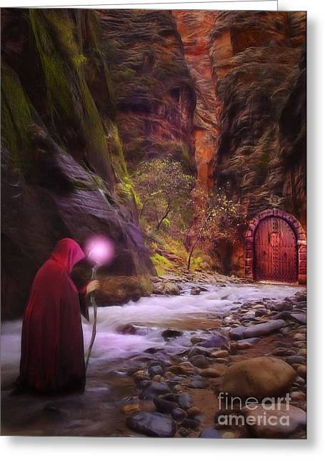 Mage Greeting Cards - The Road Less Traveled Greeting Card by John Edwards
