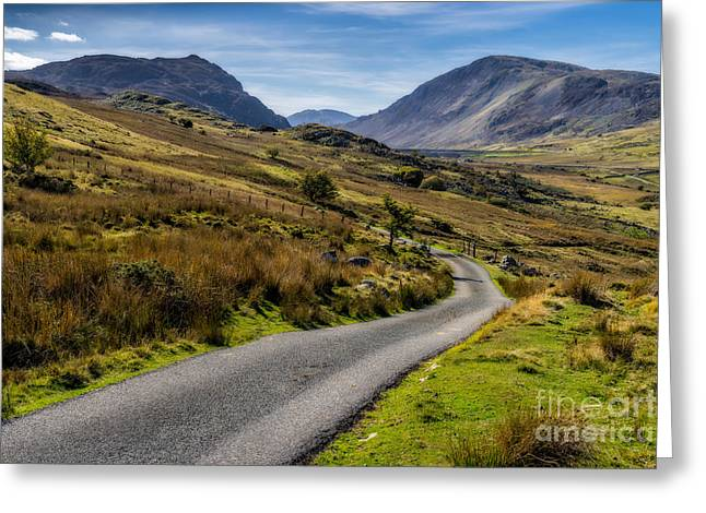 Winding Greeting Cards - The Road Less Travelled Greeting Card by Adrian Evans