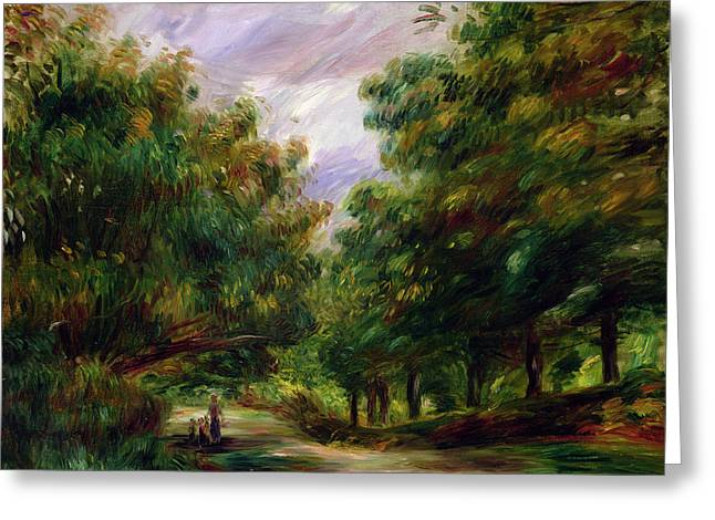 The Road Near Cagnes Greeting Card by Pierre Auguste Renoir