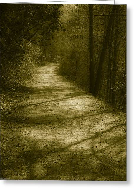 Gravel Road Greeting Cards - The Road to . . .  Greeting Card by Ches Black