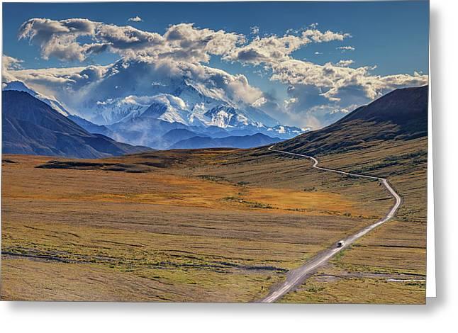 The Road To Denali Greeting Card by Rick Berk