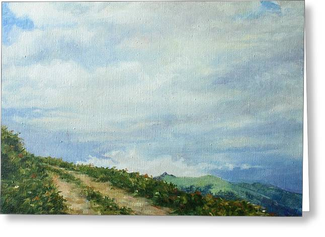 Warm Greeting Cards - The Road to the mountain Greeting Card by Tigran Ghulyan
