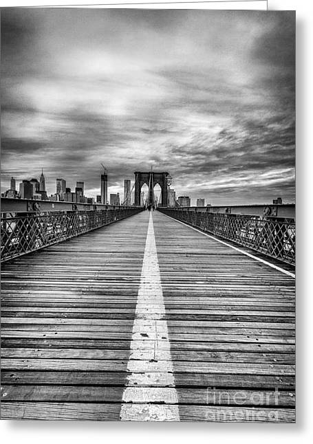 Nyc Greeting Cards - The road to tomorrow Greeting Card by John Farnan