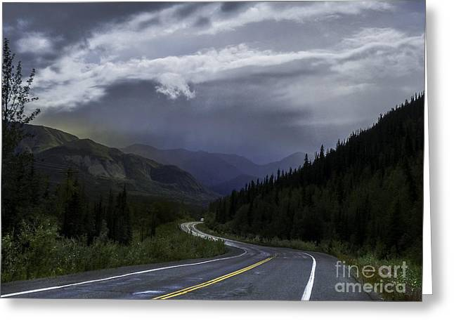 The Road To Valdez Alaska Greeting Card by Teresa A and Preston S Cole Photography