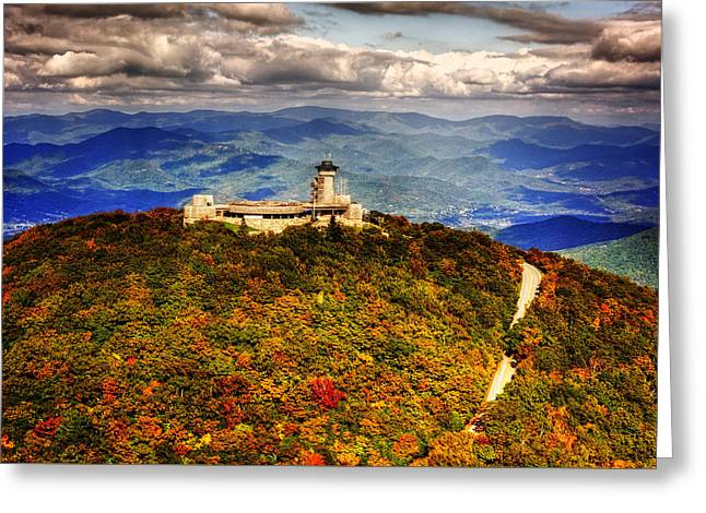 Fall Colors Greeting Cards - The Road UP To Brasstown Bald Greeting Card by Chrystal Mimbs