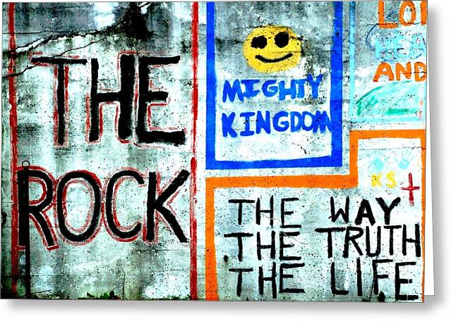 The Rock Greeting Card by Michael L Kimble