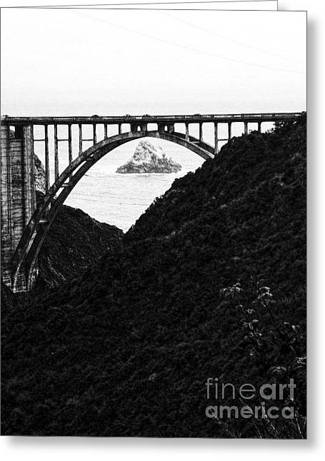 Bixby Bridge Greeting Cards - The Rock Of Bixby  Greeting Card by Chris Berry