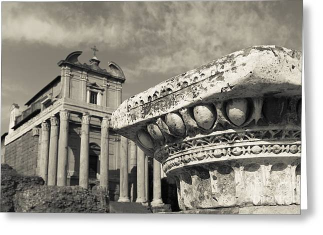 Archaeological Greeting Cards - The Roman Forum Greeting Card by Edward Fielding