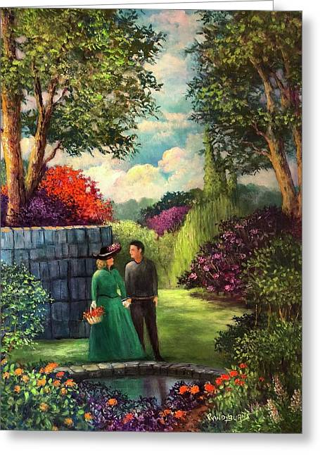 Randy Burns Greeting Cards - The Romantic Garden Greeting Card by Randy Burns