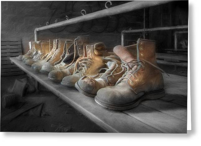 The Room Of Lost Soles Greeting Card by Lori Deiter