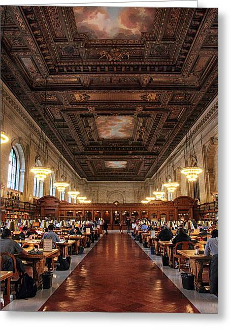 The Rose Reading Room II Greeting Card by Jessica Jenney