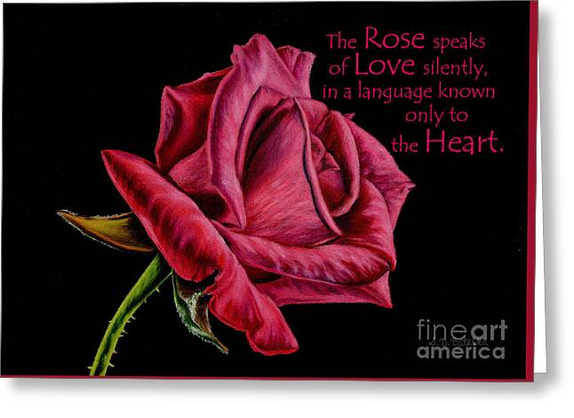 The Rose Speaks  Greeting Card by Sarah Batalka