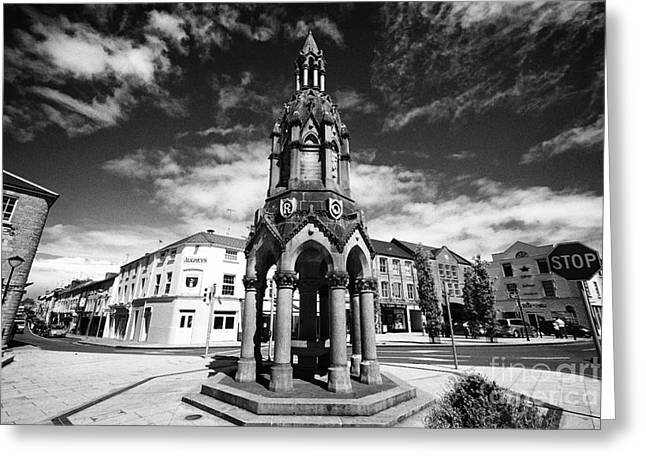 The Rossmore Monument In The Diamond Monaghan Town County Monaghan Republic Of Ireland Greeting Card by Joe Fox