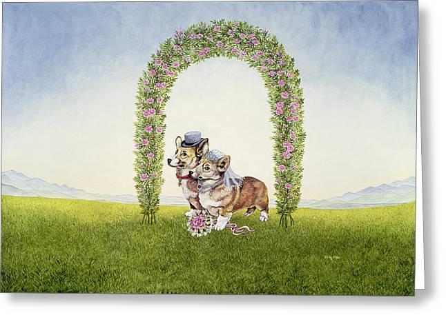 Doggies Greeting Cards - The Royal Wedding Greeting Card by Ditz