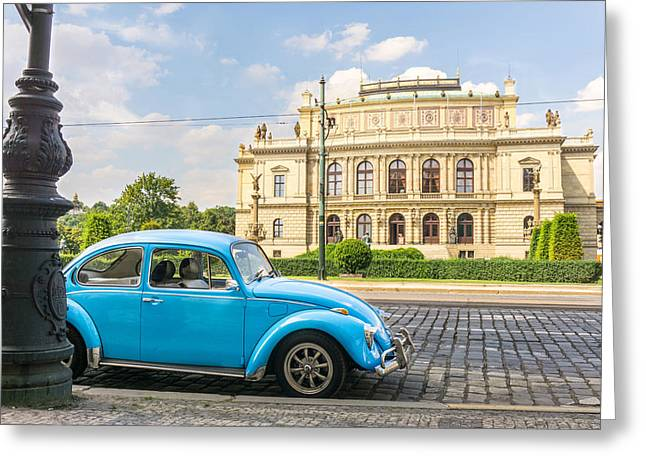 The Rudolfinium In Prague Greeting Card by Jim Hughes