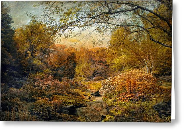 Fall Trees Greeting Cards - The Russet Garden Greeting Card by Jessica Jenney