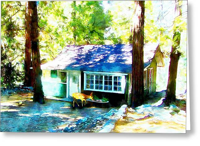 Oak Creek Greeting Cards - The Visitor Greeting Card by Ruth Moratz