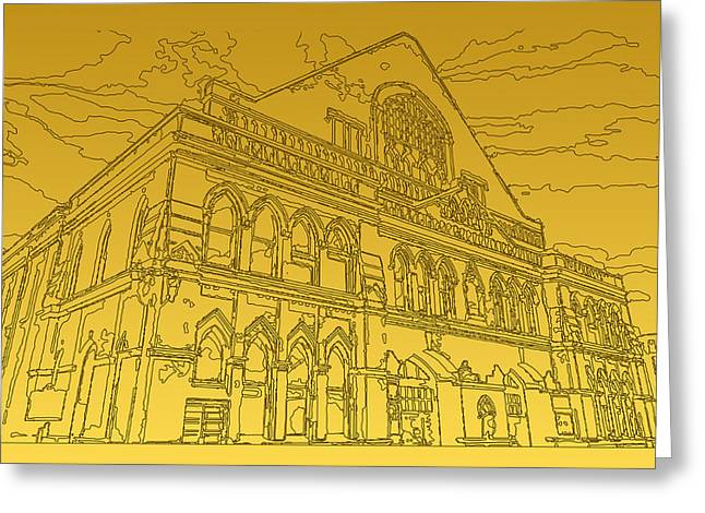 Tennessee Historic Site Greeting Cards - The Ryman Auditorium Greeting Card by Michael Lax