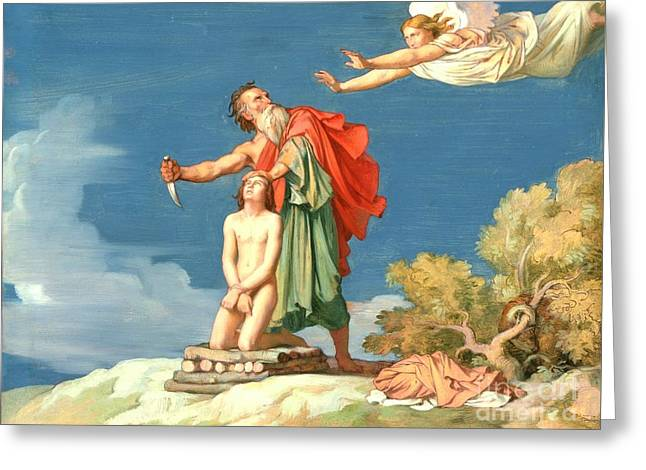 Flandrin Greeting Cards - The Sacrifice of Isaac Greeting Card by MotionAge Designs