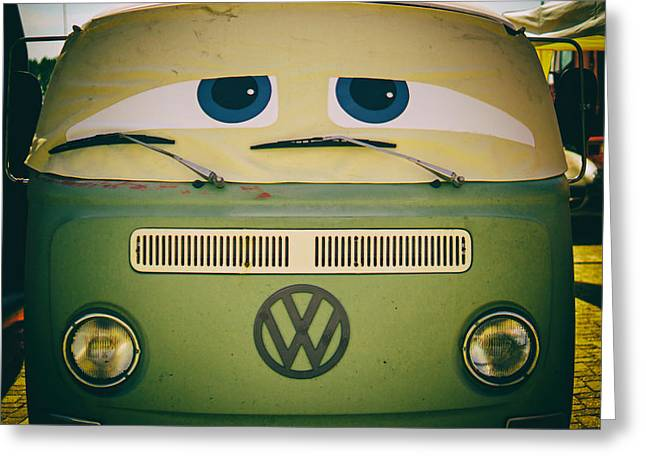 The Sad Eyed Volkswagen Greeting Card by Mountain Dreams