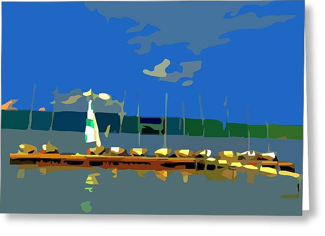 Lessons Greeting Cards - The Sailing Lessons Greeting Card by Sarah  Niebank