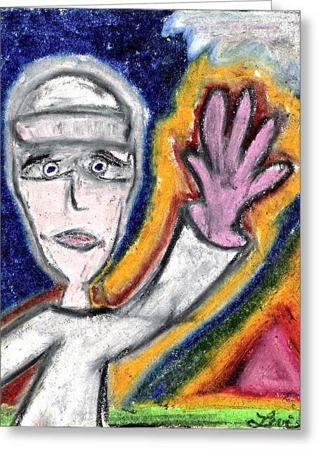 Awesome Pastels Greeting Cards - The Sailor  Greeting Card by Levi Glassrock