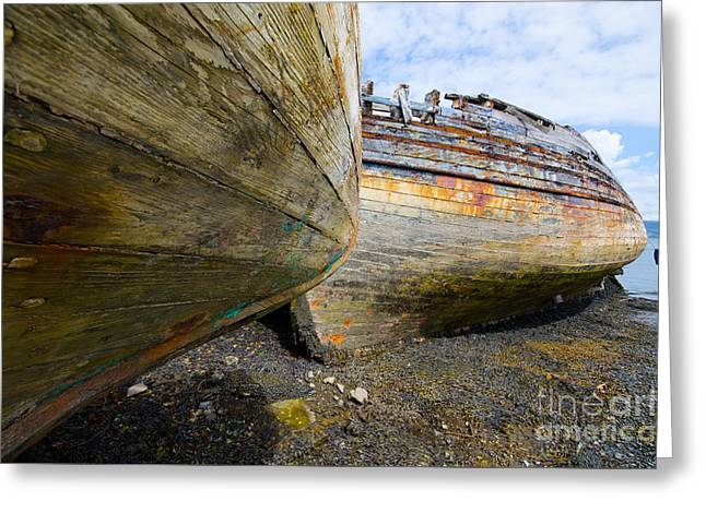 The Salen Wrecks Greeting Card by Stephen Smith