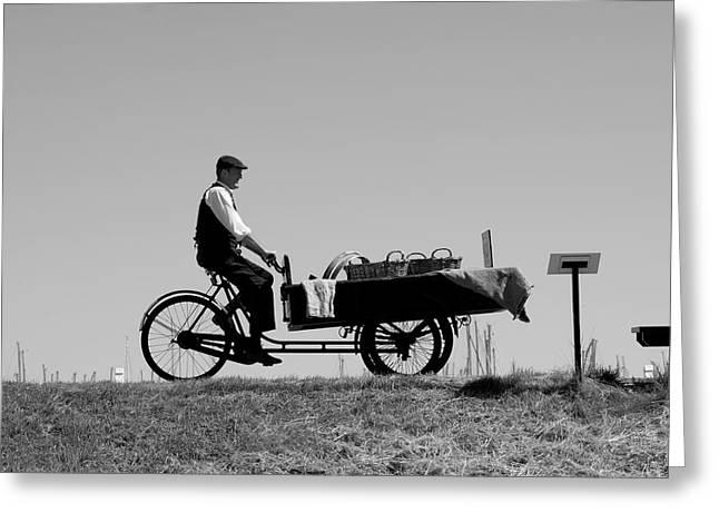 Go Cart Greeting Cards - The Peddler Greeting Card by Aidan Moran