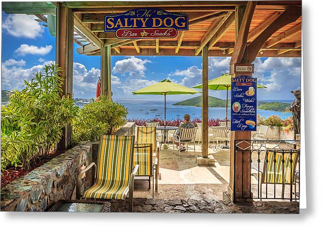The Salty Dog Charlotte Amalie Greeting Card by Keith Allen