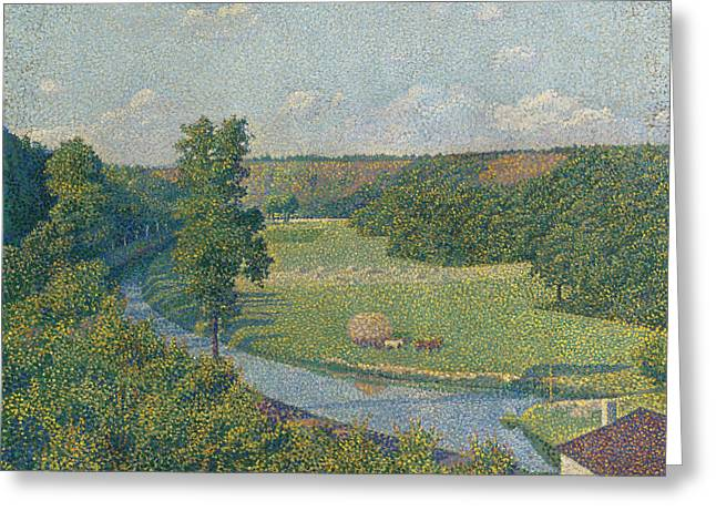 The Sambre Valley Greeting Card by Theo van Rysselberghe