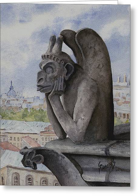 Sculpture Paintings Greeting Cards - The Same Old Thing Greeting Card by Sam Sidders