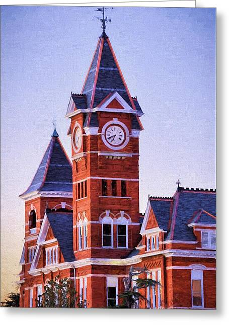 The Samford Clock Tower Greeting Card by JC Findley